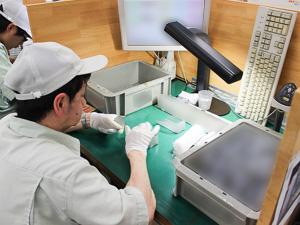 半導体部品検査の写真