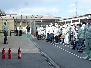 避難訓練の様子